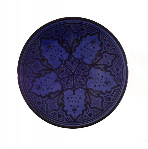 Keramikteller Marrakesch Blau