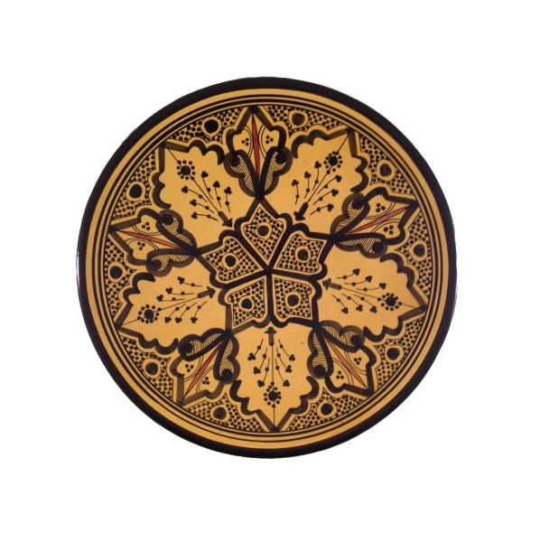 Keramikteller Marrakesch Gelb