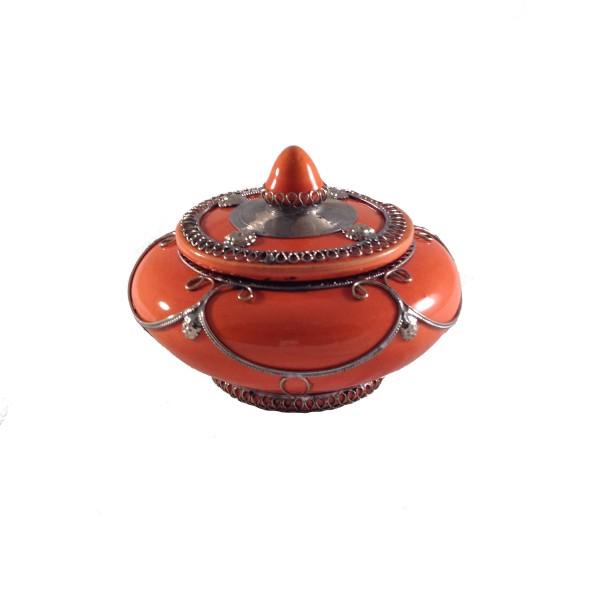 Marokkanische Keramikdose Orange