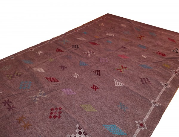 Orientalischer Berber Teppich Helllila 2.35 x 1.50m