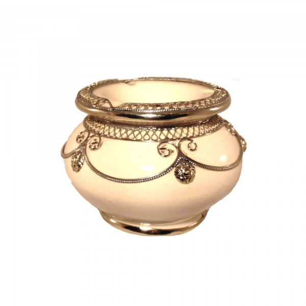 Orientalischer Aschenbecher Marrakesch Weiß