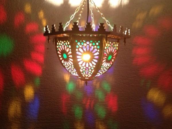 Orientalische Deckenlampe Fez Bunt