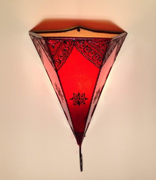 Orientalische Wandlampe Agadir-Rot