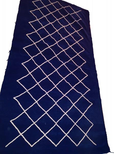 Orientalischer Berber Teppich Blau 2.55 x 1.35m