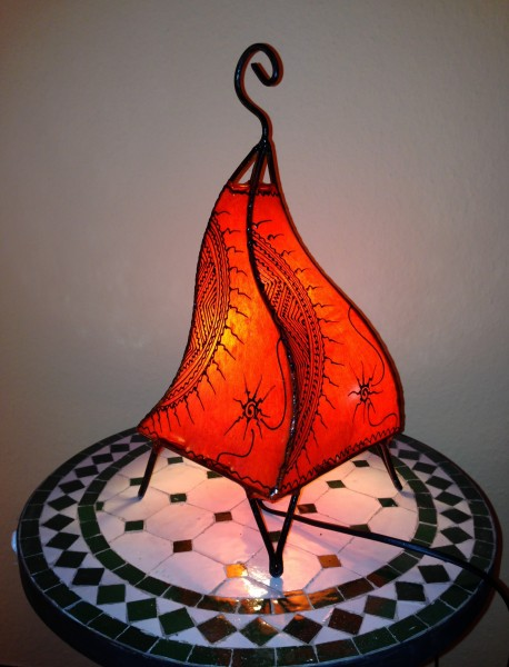 Stehlampe Hennalampe Salwa Orange 38cm