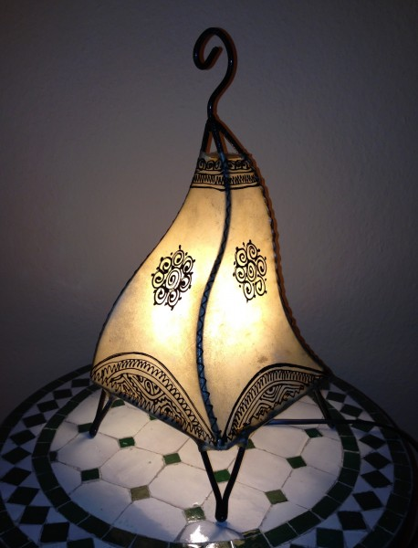 Stehlampe Hennalampe Batoul Natur 38cm