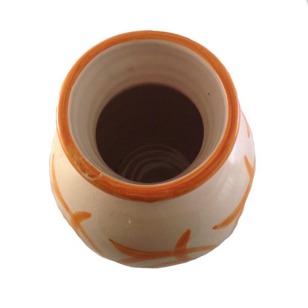 Orientalische Keramik Vase Assfi Orange