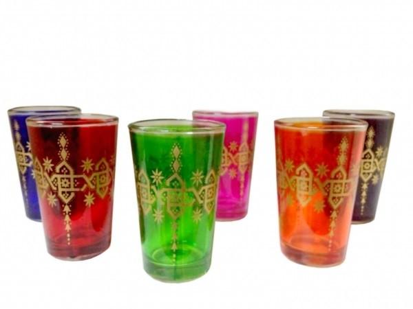 6 x orientalische Teegläser Tanger