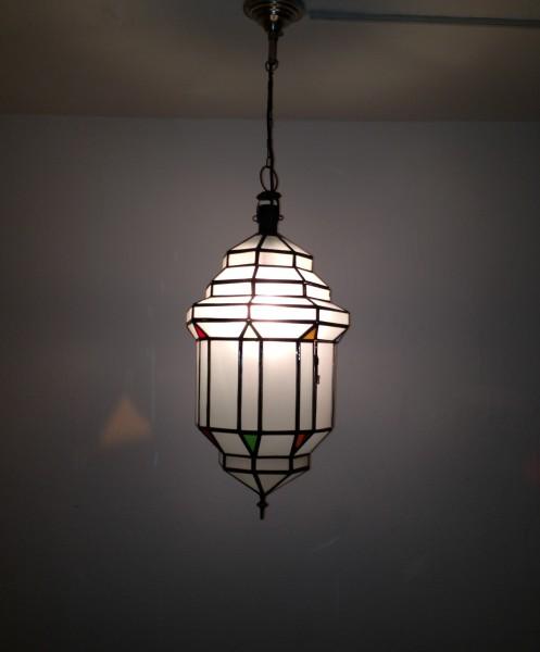 Orientalische Deckenlampe Marrakesch Edel weiß Mamounia