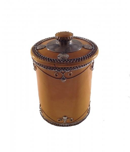Marokkanische Zuckerdose Keramik Marrakesch Gelb