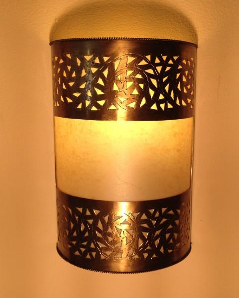Wandlampe Messing Marrakesch