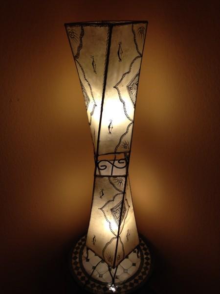 Stehlampe Hennalampe Quader Bahia Natur 98cm