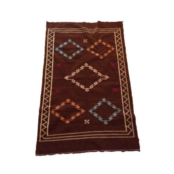 Orientalischer Berber Teppich Braun 1.85 x 1.15m