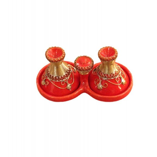 Orientalische Gewürztajine Tajine für Dips-Rot