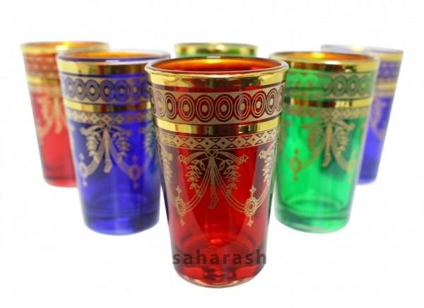 6 x orientalische Teegläser groß Rabat