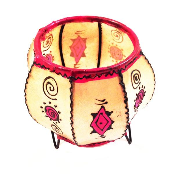 Kerzenhalter Windlicht Henna Rund Marrakesch -Rosa