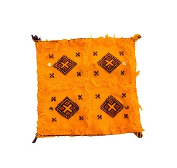 Orientalischer Berber Kissenbezug Atlas Gelb