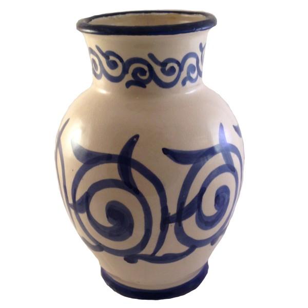 Orientalische Keramik Vase Assfi Blau