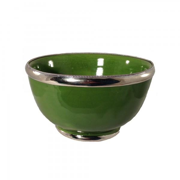 Keramikschale Klein Simple Silberverzierung Marrakesch-Hellgrün Pistazien