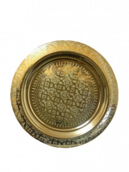 Orientalisches Marokkanisches Teetablett Gold