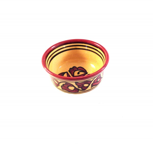 Marokkanische Keramikschale Fes-Bordeaux / Gelb