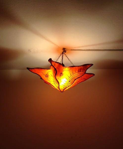 Deckenlampe Hennalampe Stern Orange