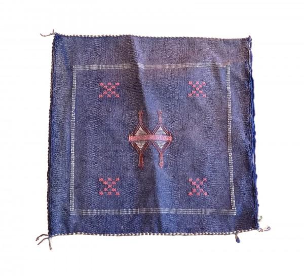 Orientalischer Kissenbezug Berber Blau Balken Viereckig