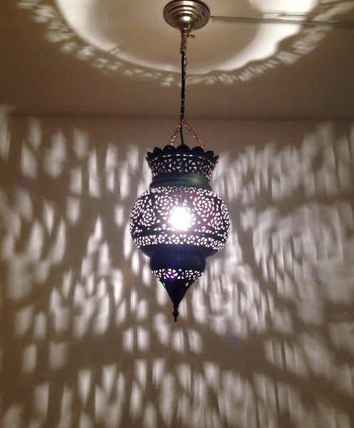 Orietalische Deckenlampe Marrakesch Messing