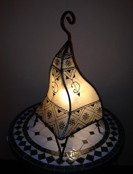 Stehlampe Hennalampe Badiaa Natur 38cm