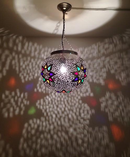 Deckenlampe Messing Stern Mehrfarbig
