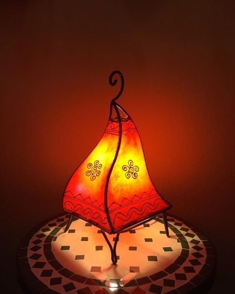 Stehlampe Hennalampe Radia Rot 38cm