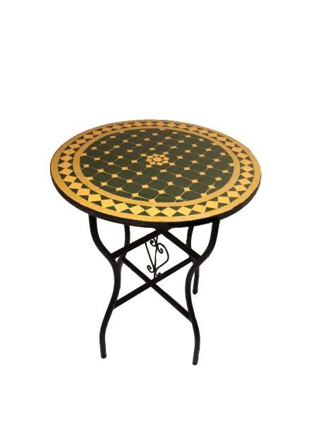 Mosaiktisch Petit Jardin 60cm-Gelb / Grün