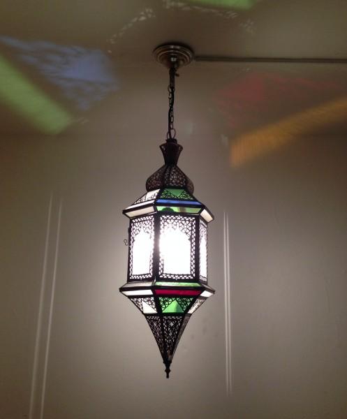 Orientalische Deckenlampe Marrakesch Exagon 60cm