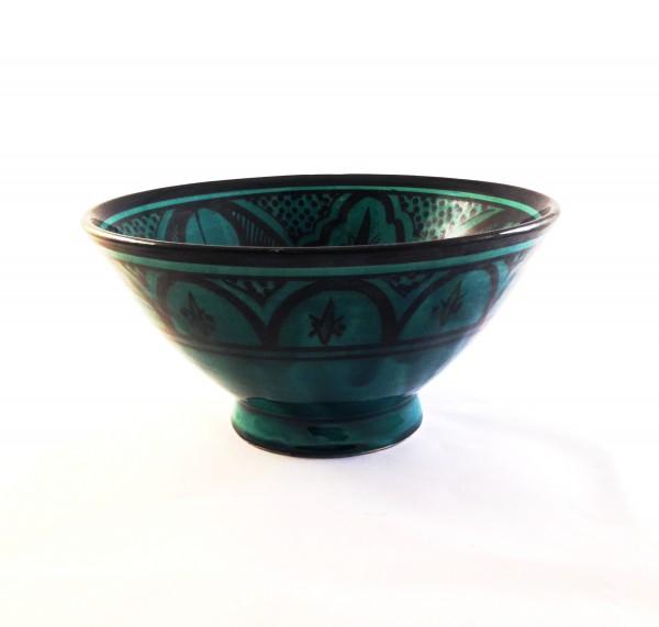 Orientalische Keramikschale Salatschale Fes-Grün