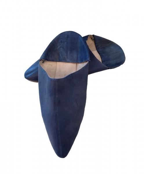 Marokkanische Lederschuhe Babouch Blau