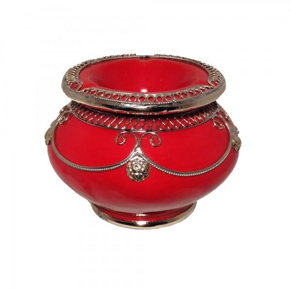 Orientalischer Aschenbecher Marrakesch Rot