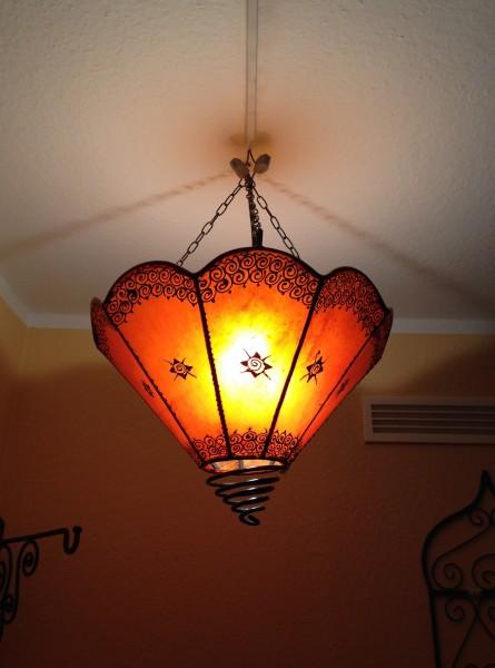 Deckenlampe Hennalampe Wajda-Orange