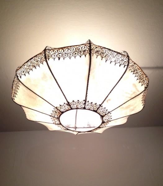 Orientalische Deckenlampe Hennalampe Marrakesch-Natur