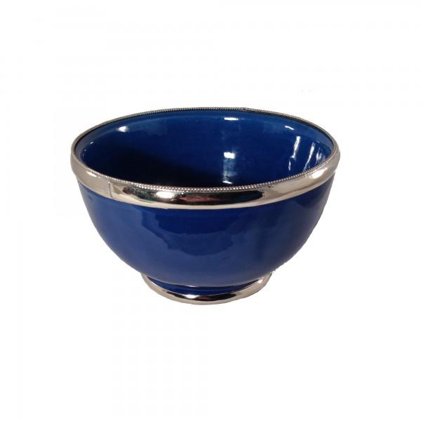 Keramikschale Simple Silberverzierung Marrakesch-Türkis