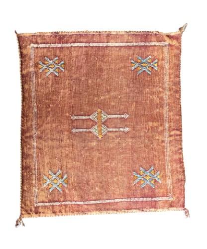 Orientalischer Kissenbezug Berber kelim Kupferfarbe