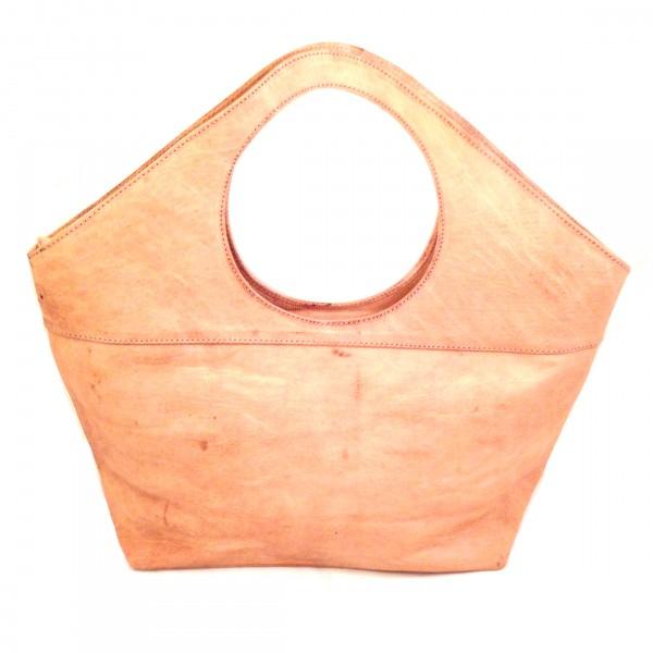 Leder Handtasche Ghoufa Klein Marrakesch-Natur